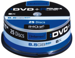 Intenso DVD+R 8,5GB 8x Double Layer 25er Spindel
