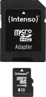 Intenso Micro SD Card 8GB Class 10 inkl. SD Adapter