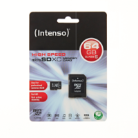 Intenso Micro SD Card 64GB Class 10 SDXC inkl. SD Adapter