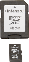Intenso Micro SD Card 64GB UHS-I inkl. SD Adapter