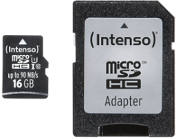 Intenso Micro SD Card 16GB UHS-I inkl. SD Adapter Professional