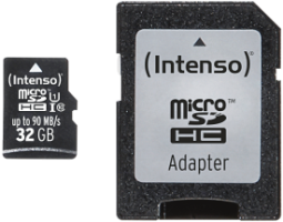 Intenso Micro SD Card 32GB UHS-I inkl. SD Adapter Professional