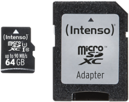 Intenso Micro SD Card 64GB UHS-I inkl. SD Adapter Professional