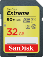 Sandisk Extreme SDHC 32GB 90MB/s Class 10 UHS-I U3