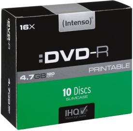 DVD-R 4,7GB 10er Slimcase Printable