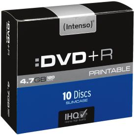 DVD+R 4,7GB 10er Slimcase Printable