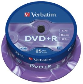 DVD+R 4,7GB 16X 25er SP