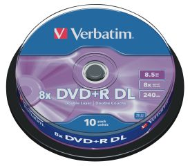 DVD+R DL 8,5GB 8x 10er SP