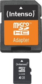 Micro SD Card 4GB Class 4 inkl. SD Adapter