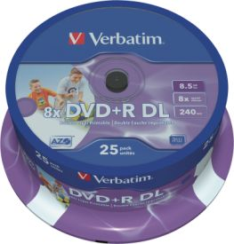 DVD+R DL 8,5GB 8x 25er SP Printable