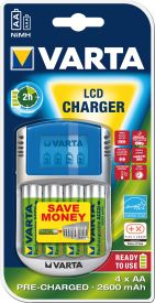 Power Play LCD-Charger (4x Mignon 2.700 mAh)
