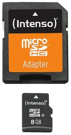 Micro SD Card 8GB Class 4 inkl. SD Adapter
