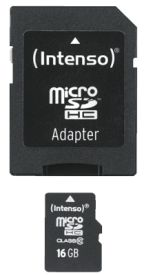 Micro SD Card 16GB Class 10 inkl. SD Adapter