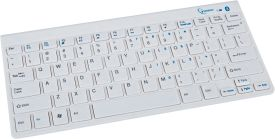 Tastatur Mini Bluetooth KB-BT-001-W-DE Slimline