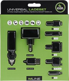 Energiesparendes Universalladeset USB All in One