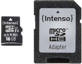 Micro SD Card 16GB UHS-I inkl. SD Adapter Professional
