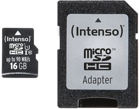 Micro SD Card 16GB UHS-I Professional inkl. SD Adapter
