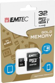 microSDHC 32GB Class10 Gold High Speed