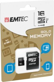 microSDHC 16GB Class10 Gold High Speed