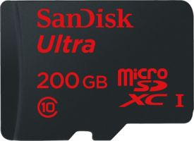 Ultra Android microSDXC 200GB 90MB/s Class 10 + SD Adapter