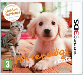 3DS Nintendogs Retriever + New Friends Selects