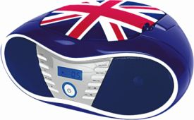 CD58 Tragbares CD/Radio - Union Jack