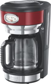 Retro Ribbon Red Glas-Kaffeemaschine