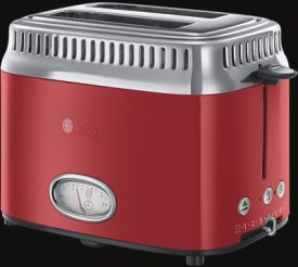 Retro Ribbon Red Kompakt-Toaster