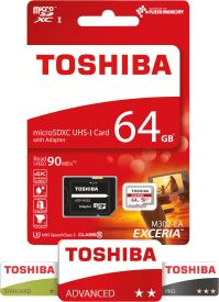 EXCERIA M302-EA 64GB microSDXC UHS-I Card + Adapter