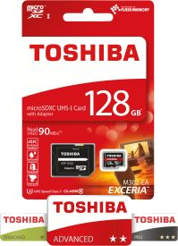 EXCERIA M302-EA 128GB microSDXC UHS-I Card + Adapter