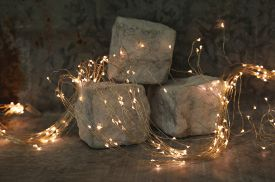 Copper Wire indoor Lichterkette 125LED