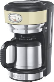 Retro Vintage Cream Thermo-Kaffeemaschine