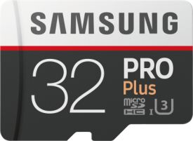 PRO Plus 32GB microSDHC Card 100MB/s  + SD-Adapter