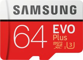 EVO+ 64GB microSDXC Card 2017 + Adapter 100MB/s