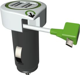Dual USB Car Charger 2USB
