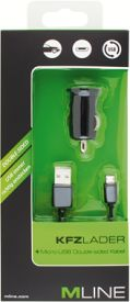 Kfz-Lader Single USB 1A & Double-sided micro USB Datenkabel