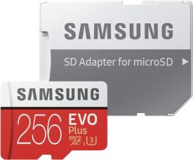 EVO Plus 256GB microSDXC Card 100MB/s + SD-Adapter