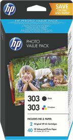 Z4B62EE HP 303 PhotoValue Pack