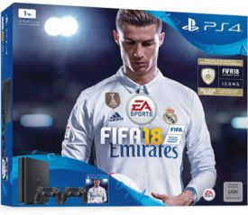 PS4 1TB Slim + Fifa 18 + 2tem DS4+ PSN Plus 14 T Voucher