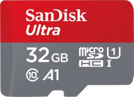 Ultra microSDHC 32GB UHS-I + SD Adapter