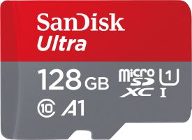 Ultra microSDXC 128GB UHS-I + SD Adapter