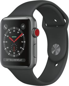 Watch Series 3 GPS + Cellular, 42mm Alu schwarzes Armband