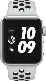 Watch Nike+ GPS, 38mm Alu pure platinum/schwarzem Armband