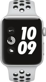 Watch Nike+ GPS, 42mm Alu pure platinum/schwarzem Armband