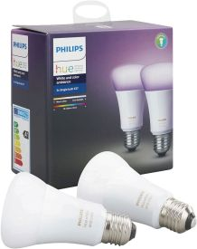 Hue White and Color Ambiance LED E27 Doppelpack RGBW 10W