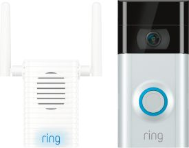 Video Doorbell 2 inkl. Chime PRO WLAN-Repeater+Indoor-Alarm