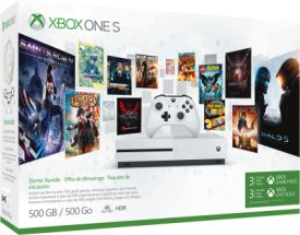 Xbox One S 500GB Konsole - Starter Bundle