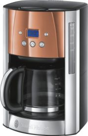 Luna Copper Accents Digitale Glas-Kaffeemaschine