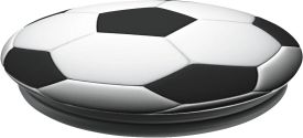 PopSockets soccer ball black