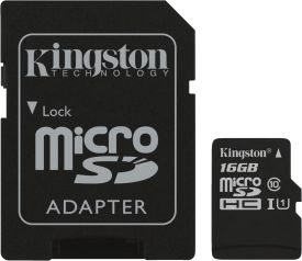 16GB microSDHC Select 80R CL10 UHS-I Card + SD Adapter